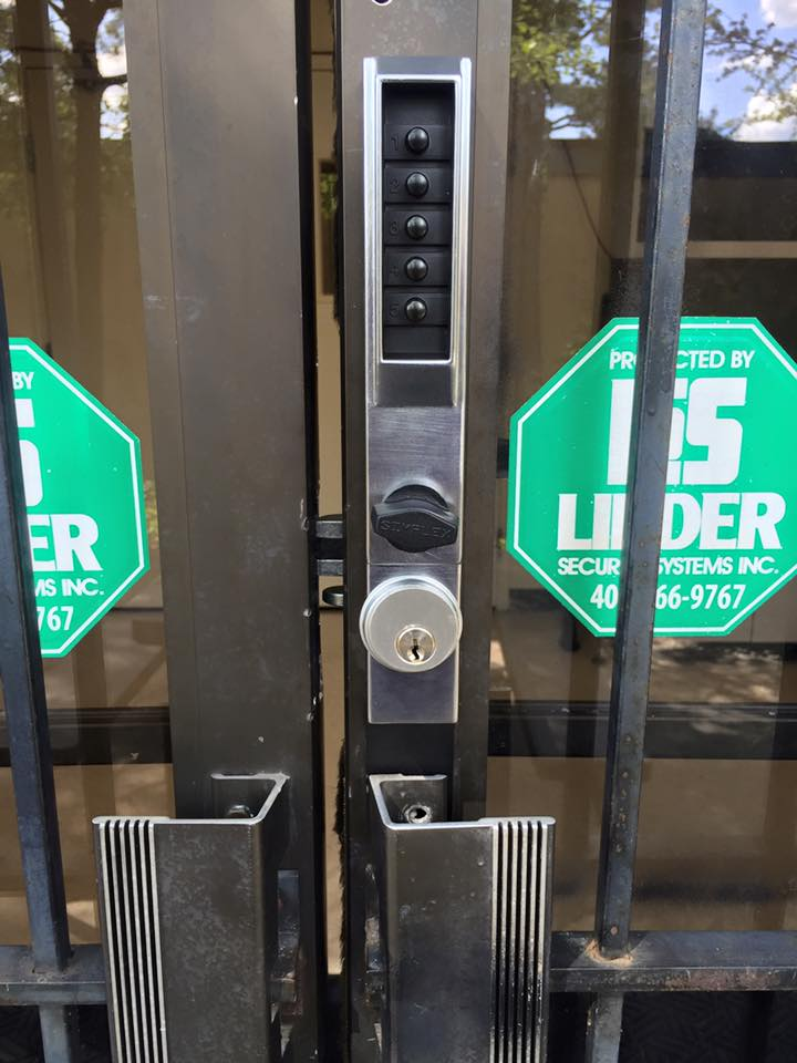 commercial keypad lock for a local business