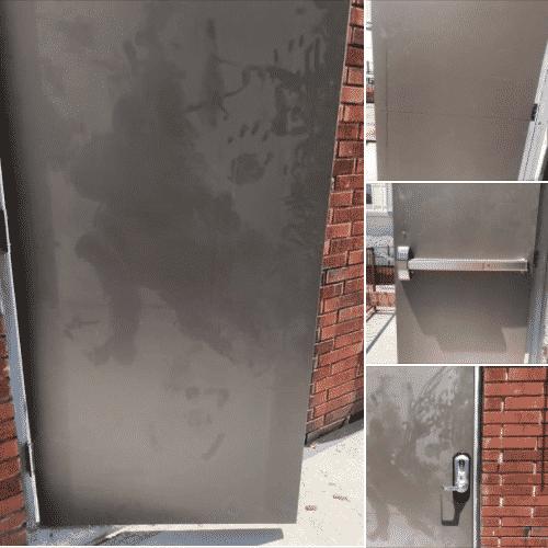 new commercial door install